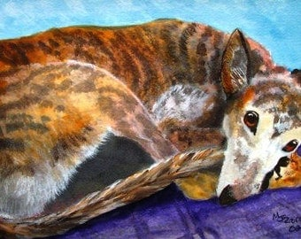 Greyhound Dog Art Print Mary Jo Zorad