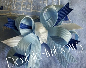 Seaside Glamour Toddler hairbow Bow M2M Janie and Jack  from Double-lynbows