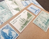 Sail Away  .. UNused Vintage Postage Stamps  .. post 5 letters