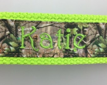Camo Monogrammed Fun Wristlet Key Chains Names or Initials Camo Key Fob