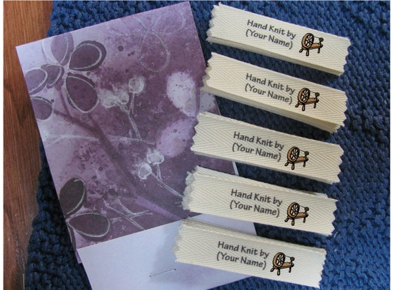 Personalized knitting labels - Spinning Wheel