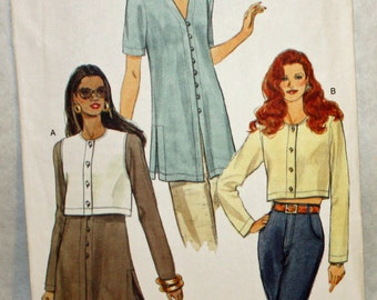 Vogue 9174, Very Easy, Sewing Pattern, Top and Tunic, Misses' Size 8, 10 and 12, UNCUT, FF
