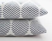 Modern Lavender Sachets Geometric Navy Blue & White Cotton Sachet Bags Organic Lavender Buds Cotton Anniversary Gift