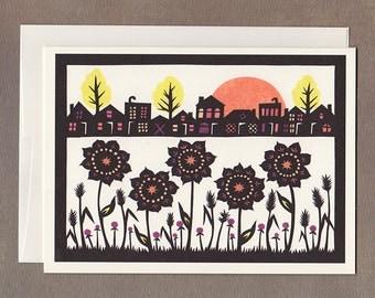 Community Garden - Greeting Card