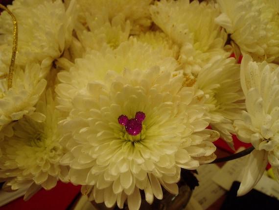 Hide 6 Purple Mouse Ears in your  Bouquets Disney themed Wedding Flower Picks Reception Centerpiece Original Creator of Mouse Flower Picks