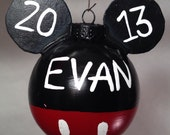 Personalize Hand-Painted Mickey Mouse Ornament