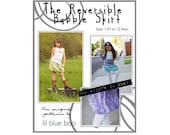 DIY PDF Sewing Pattern and Tutorial - Reversible Girl's Bubble Skirt - Sizes 12M through 12