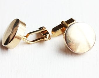 Vintage Gold Circle Cuff Links