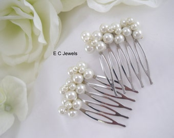 Set of 2 Small Pearl Combs