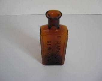 H Clay Glover New York Antique Bottle Free Shipping