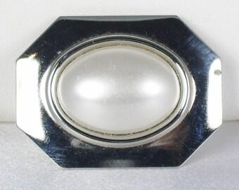 Vintage Faux Pearl Buckle Clip