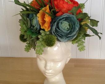 Modern Ceramic Head Planter in stock