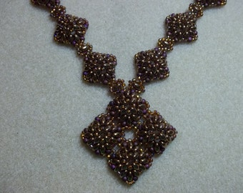 Corundum Necklace PDF Jewelry Making Tutorial (INSTANT DOWNLOAD)