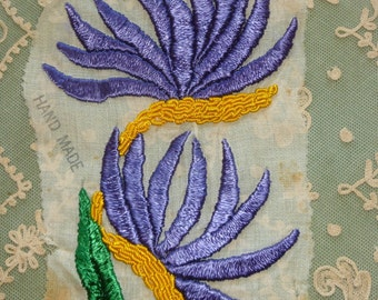 Vintage Hand Embroidered Appliqué