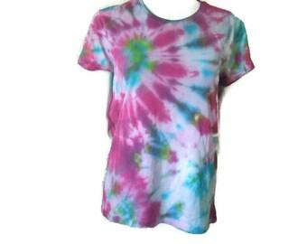 Organic Cotton Rainbow Tiedye T-shirt size XL