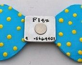 Bow Tie Leather dog Collar no more jingle jangle Just a great collar for pets of ALL sizes