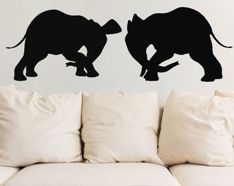 Playful Elephants Vinyl Wall Decals