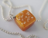 Salted Caramel Charm Necklace, Miniature Food Jewelry