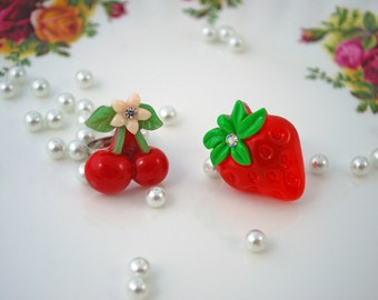 Fruit Rings ~ Strawberry and Cherry