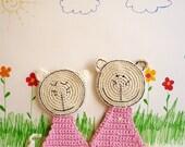 Crochet Cat Pattern - Coaster, DIY