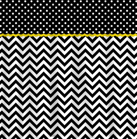 Custom Colors Shower Curtain -Chevron multi stripe design design - ANY color of your choice - Standard or ExLong Size
