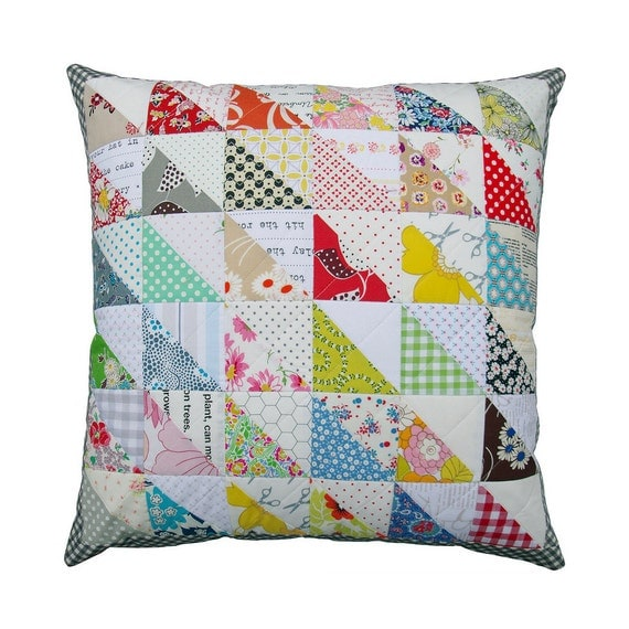 Retro Patchwork Pillow Cover