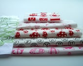 Remnants Pack - Pinks and Reds - Set of Six Mixed Pieces