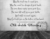 Old Irish Blessing Vinyl Decal