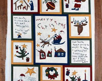 Quiltsy Destash Party Quilting Christmas Fabric  Dear Santa panel Sandy Gervais Moda