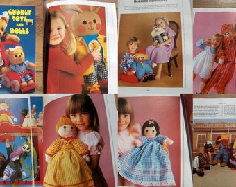 vintage 80s Jean Greenhowe CUDDLY TOYS and DOLLS sewing patterns