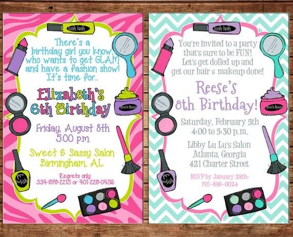 Spa Invitation Wording as amazing invitation layout