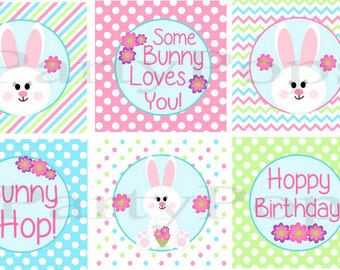 Bunny Party, Cupcake Toppers, Bunny Birthday, Bunny Party Printables , Bunny Cupcake Topper, Eater Birthday, Easter Party, INSTANT DOWNLOAD