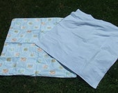 Peter Rabbit baby blue coverlet or carriage stroller blanket