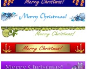 Downloadable Merry Christmas Predesigned Banners