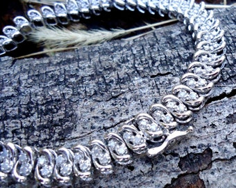 "Silver and ""Diamond"" Tennis Bracelet - 2028"