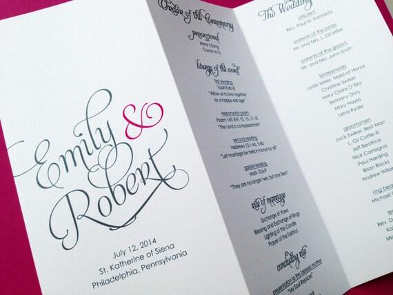 Wedding Programs Trifold Wedding Programs By