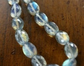 Labradorite Necklace - Micro Faceted/Basket Cut Labradorite Oval Nuggets, Gold Filled Clasp