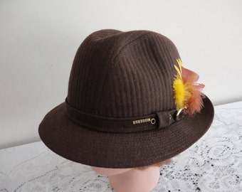 Vintage Brown Wool Blend  Men Hat Size 7, 56cm 22  inches  Stetson