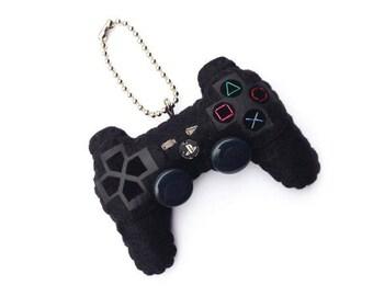 Felt PS3 Controller Plush Keychain