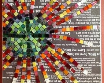 Mosaic Glass  - Ferris Wheel - stained glass - leadlight glass