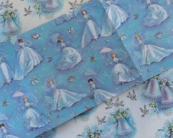 Vintage Gift Wrap, Bridal Shower, Wedding Dress, Wrapping Paper, Wedding Fashion, Ephemera, Scrap Booking, Vintage