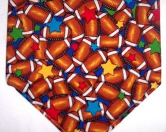 Football Star Bandana - Four sizes to choose from - Too Cute!