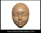 Mold No.109 (Face- Closed eyes) by Veronica Jeong From thevanderveens