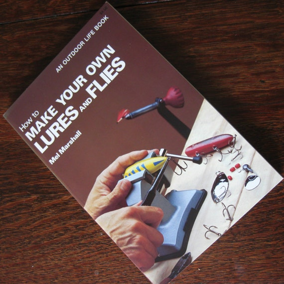 Vintage book how to make your own lures and flies fishing book for Create your own fish