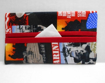 USMC Tissue Cozy/Gift Card Holder/Party Favor/Wedding Favor