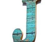 20% Off....Wall Decorative Letter J, Wood Grain Print, Initials, Monogram, Alphabet, Country, Rustic Chic Decor