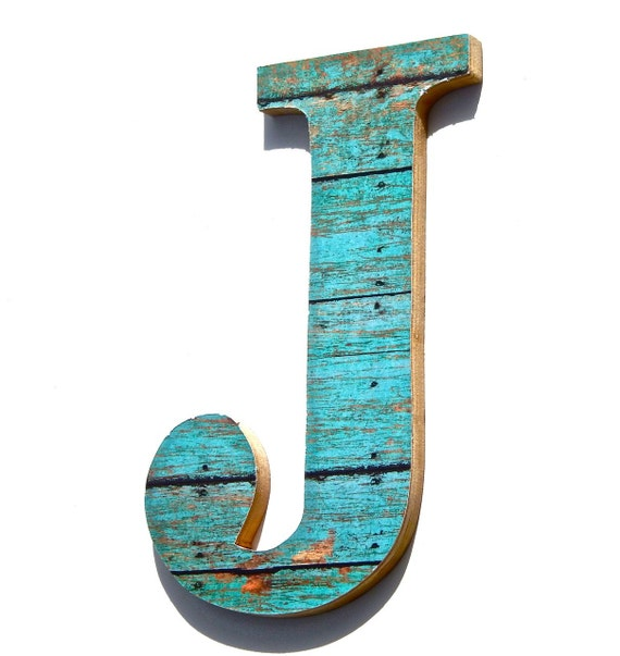 20 offwall decorative letter j wood grain by for J letter decor