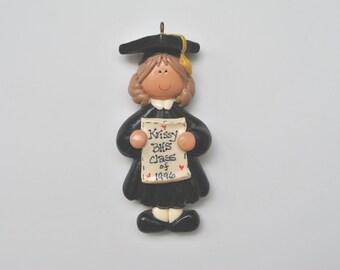 Personalized Girl Graduate Christmas Ornament