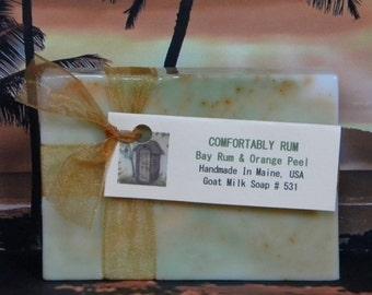 COMFORTABLY RUM Bay Rum Soap - Natural Handmade Mens Soap