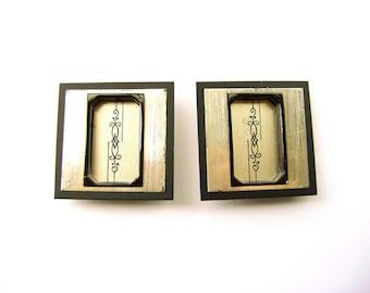 Japanese Door Pulls - Vintage Door Pulls - Sliding Door Pulls - Pocket Door Pulls - Japanese Vintage - Vintage Japanese -Silver Black  B3